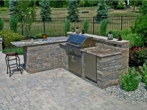 outdoor kitchen with granite countertops traditional