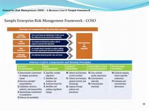 Risk Framework Template by Enterprise Risk Management Erm A Business