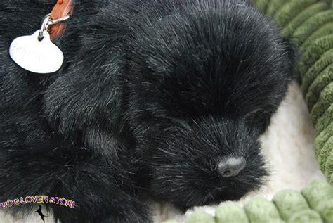 lifelike puppy black lab like stuffed animal breathing petzzz ebay