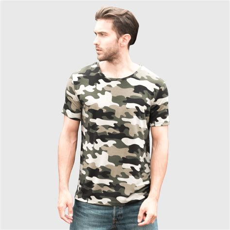Army T Shirt Impor camouflage t shirt army t shirt fitness top tees cool sleeve camo o neck