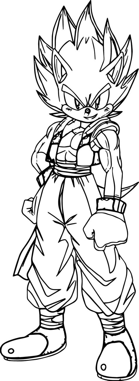 goku coloring pages goku sonic coloring page wecoloringpage