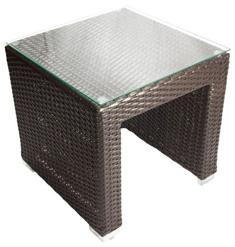 Outdoor Wicker Table by Shop Houzz Dola Outdoor Patio Wicker Side Table
