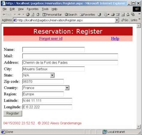 format email address with name reservation security