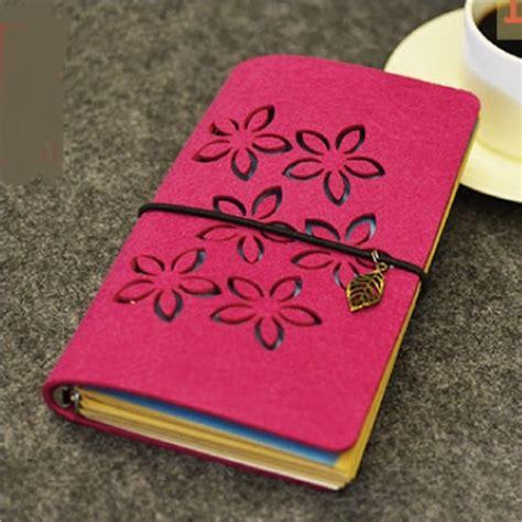 quot petals quot fabric cover diary blank kraft paper