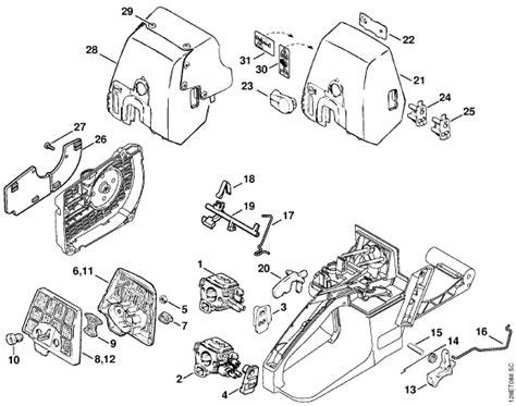 034 stihl chainsaw parts diagram on stihl 034 av chainsaw need a diagram or manuel