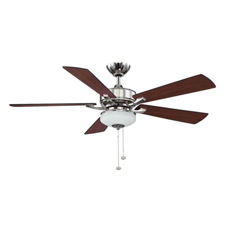ceiling fan downrod lowes shop litex 52 in polished nickel downrod mount ceiling fan