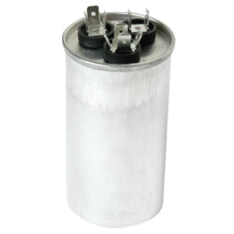 dual motor run capacitor mfd rating 35 5 eastman 45 5 mfd 370 vac dual run capacitor 92062 the home depot