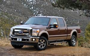 Brown Ford 2011 Ford F Series Duty Front Three Quarter Brown