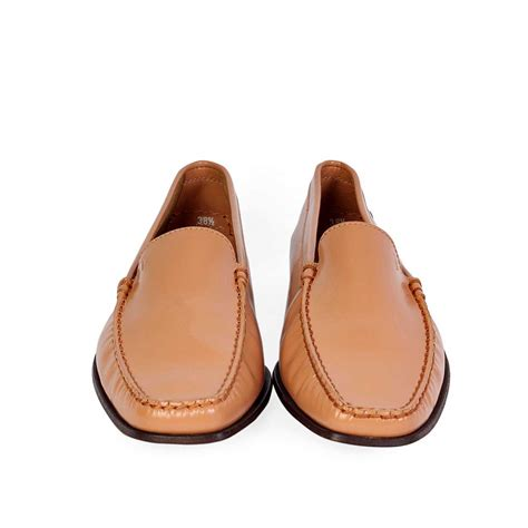 brown leather loafers womens tods brown leather womens loafers s 38 5 5 5 luxity