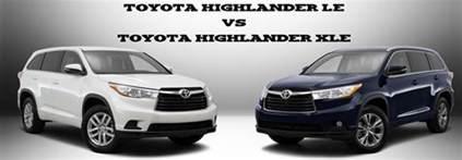 Toyota Xle Vs Le Toyota Highlander Le Vs Toyota Highlander Xle Limbaugh