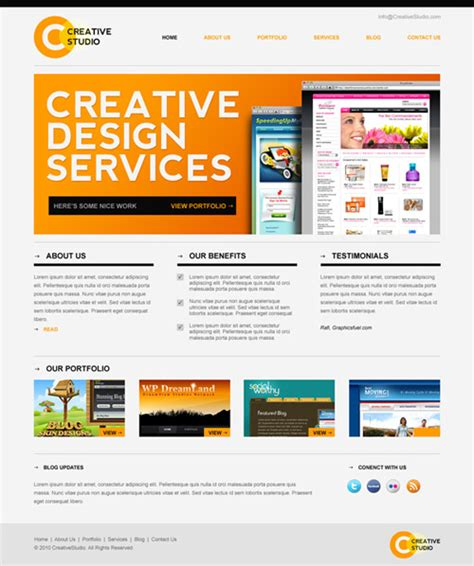 tutorial photoshop template web design 30 latest free psd web design templates of september 2013