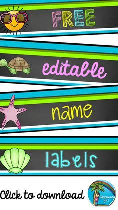 theme names are identified by their chevron owl name tags and labels editable education