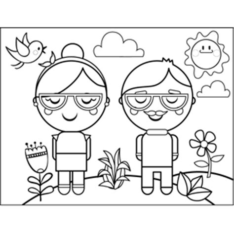 With Glasses Coloring Page