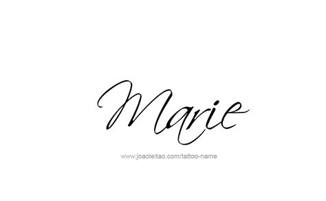 marie name tattoo designs