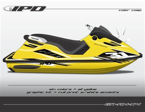 yellow sea doo boat sea doo spx xp graphics kit am design ipd jet ski