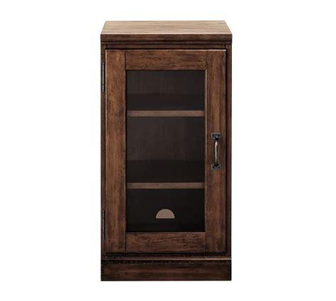 Single Glass Door Cabinet Printer S Single Glass Door Cabinet Pottery Barn
