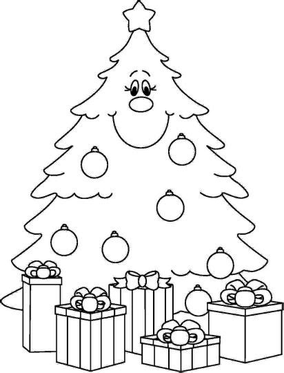 coloring page of christmas tree with presents christmas tree with presents coloring page part 3