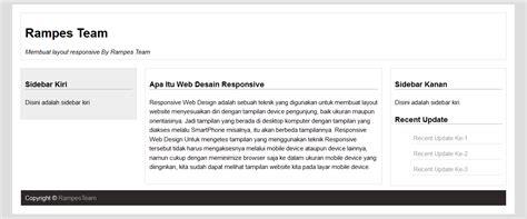 layout design adalah cara membuat desain web responsive sederhana res team