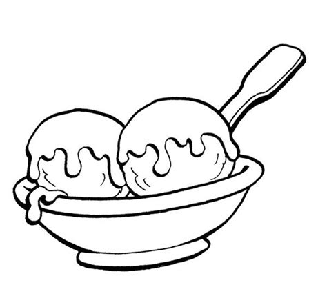 ice cream dish coloring page two ice cream scoops coloring page cookie pinterest