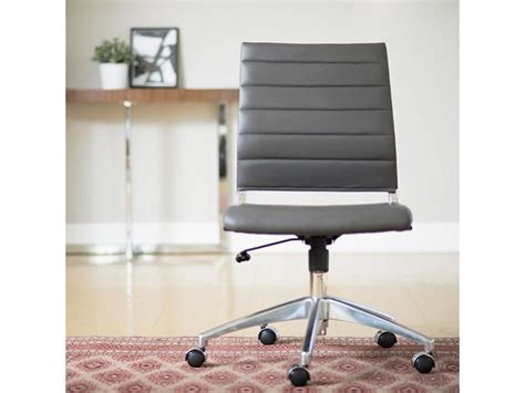 south hill design back office axel low back office chair armless in grey design by euro