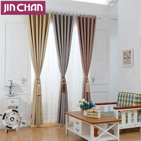 modern solid blackout curtains for bed room living room modern solid color polyester fabric blackout curtain for