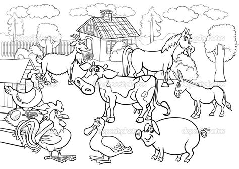 farm coloring pages for toddlers colour in farm animals az coloring pages