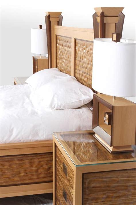 wave bedroom set custom ambient wave bedroom set in zebrawood 2015 for sale at 1stdibs