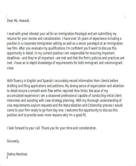 Immigration Attorney Cover Letter by 8 Assistant Cover Letter Exles In Word Pdf
