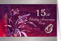 15th Anniversary Invitations from Greeting Card Universe
