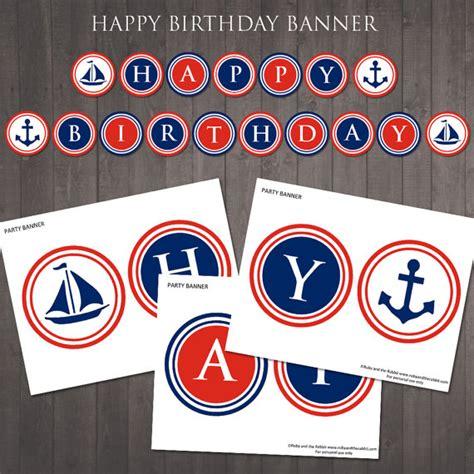 printable nautical banner printable nautical happy birthday banner instant