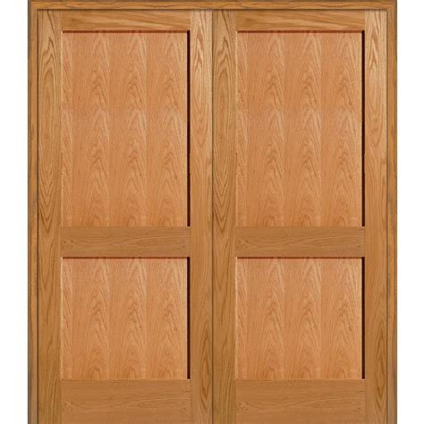 5 Panel Oak Interior Doors Milliken Millwork 61 5 In X 81 75 In Unfinished Oak 2 Panel Flat Interior Door