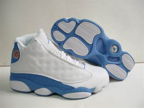 buy authentic air 13 retro white light blue shoes