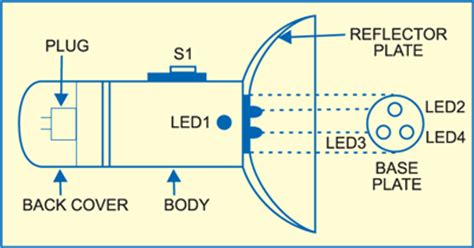 circuit diagram of a torch circuit diagram build a rechargeable torch based on