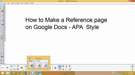 how to make an apa reference page with google docs youtube