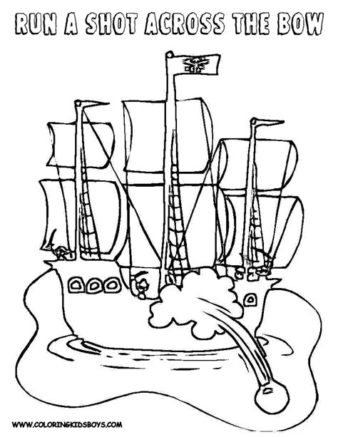 coloring page spanish galleon free coloring pages of pirate galleon