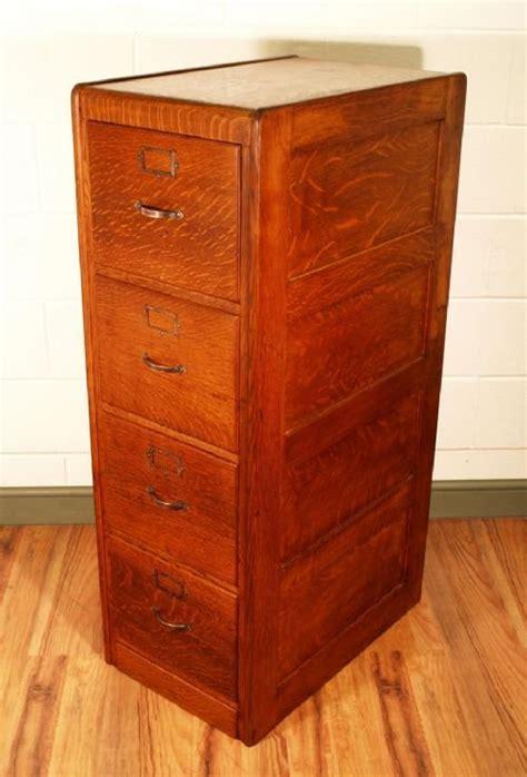 Antique Oak 4 Drawer Filing Cabinet   129015