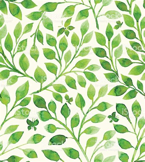 flower pattern green floral pattern filled with green leaves stock vector art