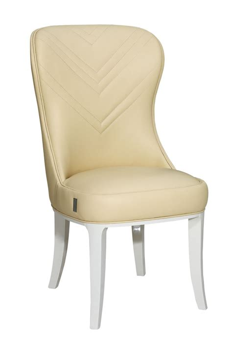 deco style gloss leather dining chair