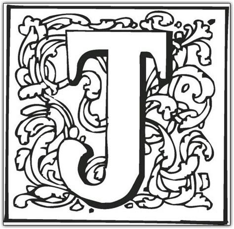 free coloring pages of o fancy letter