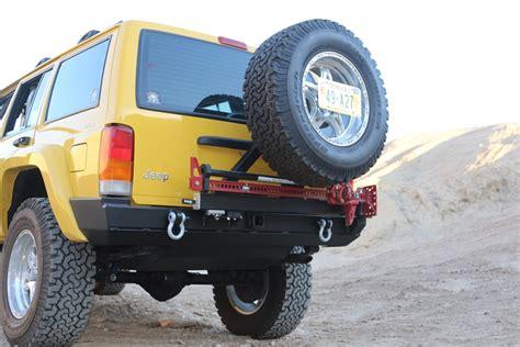 Jeep Xj Rear Tire Carrier Rock 4x4 Patriot Series Rear Bumper W Tire Carrier