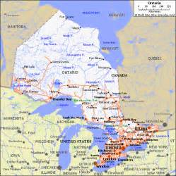 detailed map of ontario canada ontario canada pet friendly road map by 1click