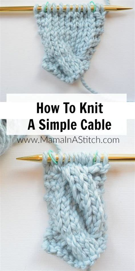 how to change colors while knitting a picture tutorial showing how to make an easy knit cable