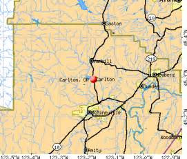 carlton oregon map carlton oregon