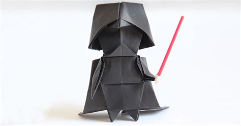 Darth Paper Origami - darth vader a step by step origami tutorial