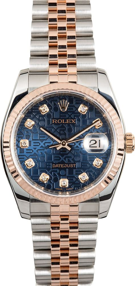 Rolex Ls20 Rosegold rolex datejust 116231 gold jubilee buy at bob s watches