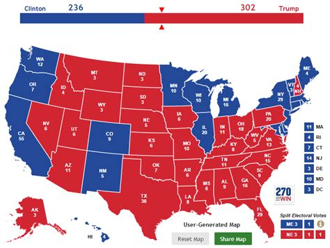 2016 electoral map predictions 1 tim s 2016 presidential election predictions ellis fyi