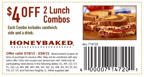 honey baked ham coupons 2013 honeybaked ham 4 lunch combos printable coupon