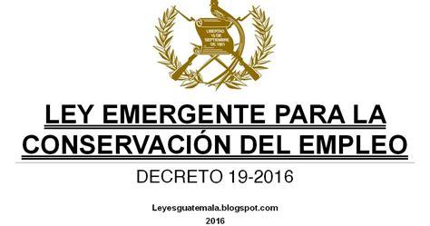 ley del isan 2016 leyes acuerdos y temas de guatemala decreto 19 2016