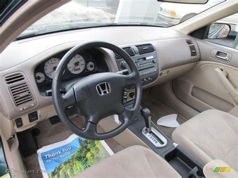 Civic 2002 Interior by Beige Interior 2002 Honda Civic Lx Sedan Photo 45674232