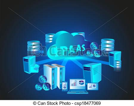 imagenes vectoriales informatica clip art de vectores de tecnolog 237 a red nube inform 225 tica
